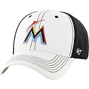 '47 Men's Miami Marlins Cooler MVP White/Black Adjustable Hat