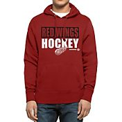 '47 Men's Detroit Red Wings Headline Pullover Red Hoodie