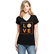 '47 Women's San Francisco Giants Club Black V-Neck T-Shirt