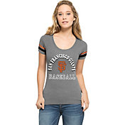 '47 Women's San Francisco Giants Fantasy Grey Scoop Neck T-Shirt