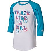 adidas Girls' 'Train Like a Girl' Destiny ¾ Sleeve Shirt