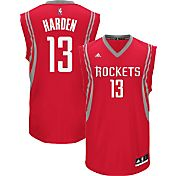 adidas Men's Houston Rockets James Harden #13 Road Red Replica Jersey