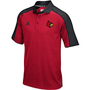 adidas Men's Louisville Cardinals Cardinal Red/Black Sideline Performance Polo