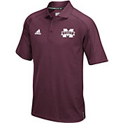 adidas Men's Mississippi State Bulldogs Maroon Sideline Performance Polo
