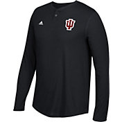 adidas Men's Indiana Hoosiers Hoosiers Henley Long Sleeve Shirt