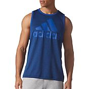 adidas Men's Contender Logo Graphic Sleeveless Shirt