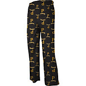 adidas Youth Pittsburgh Pirates Black Logo Pajama Pants