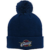 adidas Youth Cleveland Cavaliers Cuffed Pom Navy Knit Hat