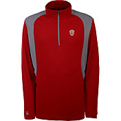 Antigua Men's Indiana Hoosiers Crimson Delta Quarter-Zip Pullover