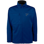 Antigua Men's St. Louis Blues Traverse Fleece Blue Jacket