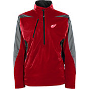 Antigua Men's Detroit Red Wings Discover Red Half-Zip Pullover Jacket