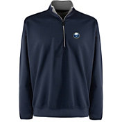 Antigua Men's Buffalo Sabres Leader Navy Quarter-Zip Pullover Jacket