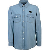Antigua Men's San Jose Sharks Chambray Button-Up Shirt