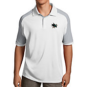 Antigua Men's San Jose Sharks Century White Polo