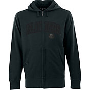 Antigua Men's New York Islanders Carbon Fiber Charcoal Full-Zip Hoodie
