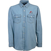 Antigua Men's Colorado Avalanche Chambray Button-Up Shirt