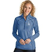 Antigua Women's Los Angeles Dodgers Royal Tempo Quarter-Zip Pullover