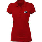 Antigua Women's Georgia Bulldogs Red Spark Polo