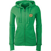 Antigua Women's Notre Dame Fighting Irish Green Full-Zip Hoodie