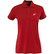Antigua Women's Detroit Red Wings Red Spark Polo
