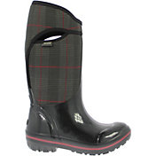 "BOGS Women's Plimsoll Prince of Wales High 13"" Insulated Waterproof Rain Boots"