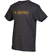 boxercraft Men's UAB Blazers Grey Just for You Crew Block Wordmark and Logo T-Shirt