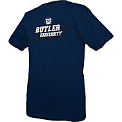 boxercraft Men's Butler Bulldogs Blue Just for You Crew Wordmark and Logo T-Shirt