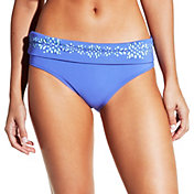 CALIA by Carrie Underwood Women's Laser Cut Foldover Bikini Bottoms