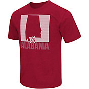 Colosseum Athletics Men's Alabama Crimson Tide White State of the Union T-Shirt
