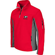 Colosseum Men's Georgia Bulldogs Red Quarter-Zip Plow Jacket