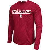 Colosseum Athletics Men's Oklahoma Sooners Crimson Sleet Long Sleeve Performance Shirt