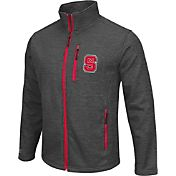 Colosseum Athletics Men's NC State Wolfpack Grey Backfield II Jacket