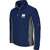 Colosseum Men's Notre Dame Fighting Irish Navy Quarter-Zip Plow Jacket