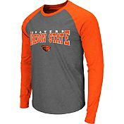 Colosseum Men's Oregon State Beavers Grey Olympus Long Sleeve Shirt