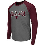 Colosseum Men's Texas A&M Aggies Grey Olympus Long Sleeve Shirt