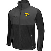 Colosseum Athletics Men's Iowa Hawkeyes Black/Grey Mesa Polar Fleece Jacket
