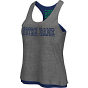 Colosseum Athletics Women's Notre Dame Fighting Irish Grey/Navy Reversible Tank Top