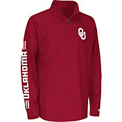 Colosseum Athletics Youth Oklahoma Sooners Crimson Draft Performance Quarter-Zip