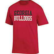 Champion Men's Georgia Bulldogs Red T-Shirt