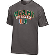 Champion Men's Miami Hurricanes Grey T-Shirt