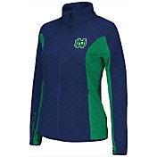 Colosseum Athletics Women's Notre Dame Fighting Irish Navy/Green Alpine Quilted Jacket