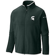 Columbia Men's Michigan State Spartans Green Fuller Ridge Fleece Jacket