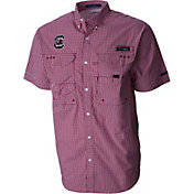 Columbia Men's South Carolina Gamecocks Gingham Checkered Super Bonehead Shirt