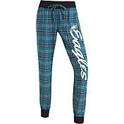 Concepts Sports Women's Philadelphia Eagles Green/White Flannel Jogger Pants