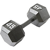 Fitness Gear 45 lb Cast Hex Dumbbell