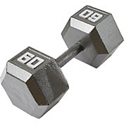 Fitness Gear 60 lb Cast Hex Dumbbell