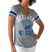 G-III For Her Women's Kentucky Wildcats Grey Any Sunday T-Shirt