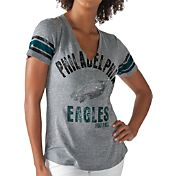 G-III for Her Women's Philadelphia Eagles Any Sunday Grey T-Shirt