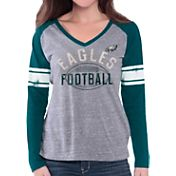 G-III for Her Women's Philadelphia Eagles Tri-Blend Franchise Grey Long Sleeve Shirt