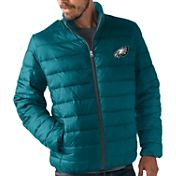 G-III Men's Philadelphia Eagles Sky Box Full-Zip Green Packable Jacket